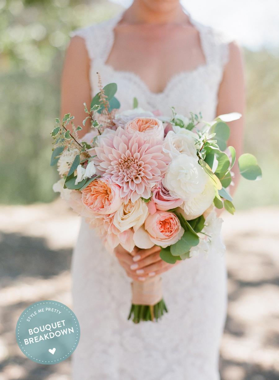 Bouquet Breakdown: Elegant 4th of July Vineyard Wedding Bouquet