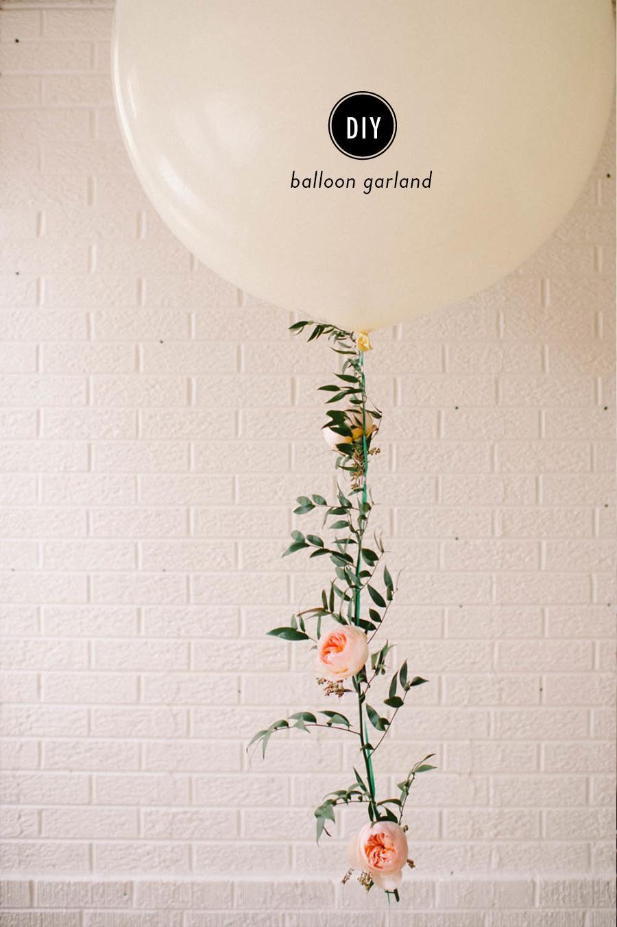 Diy Floral Balloon Garland