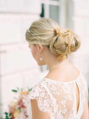 Messy Bun Wedding Inspiration Style Me Pretty