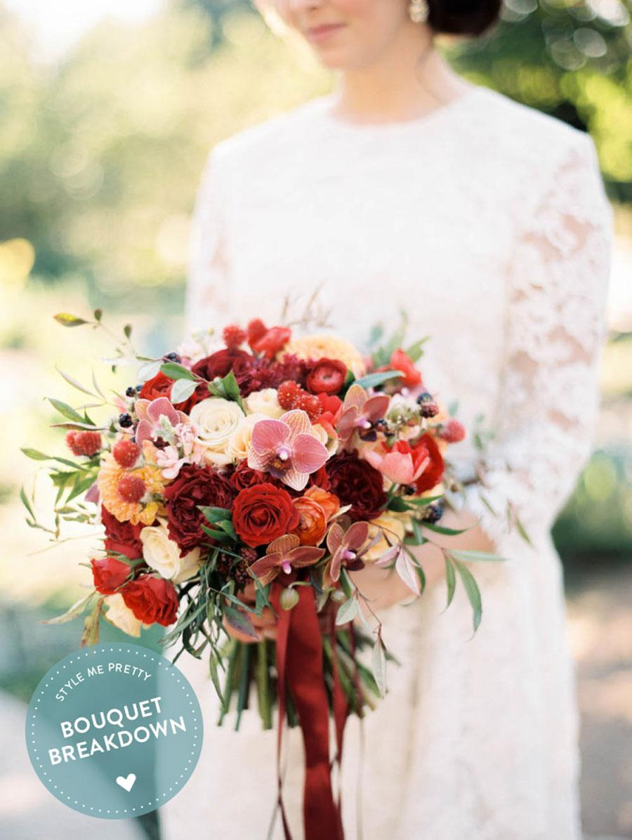 This Rich Red Masterpiece Of Blooms From Natural Beauties Fl Is Exactly Why It S Graced European Inspired Garden Wedding Inspiration Captured By