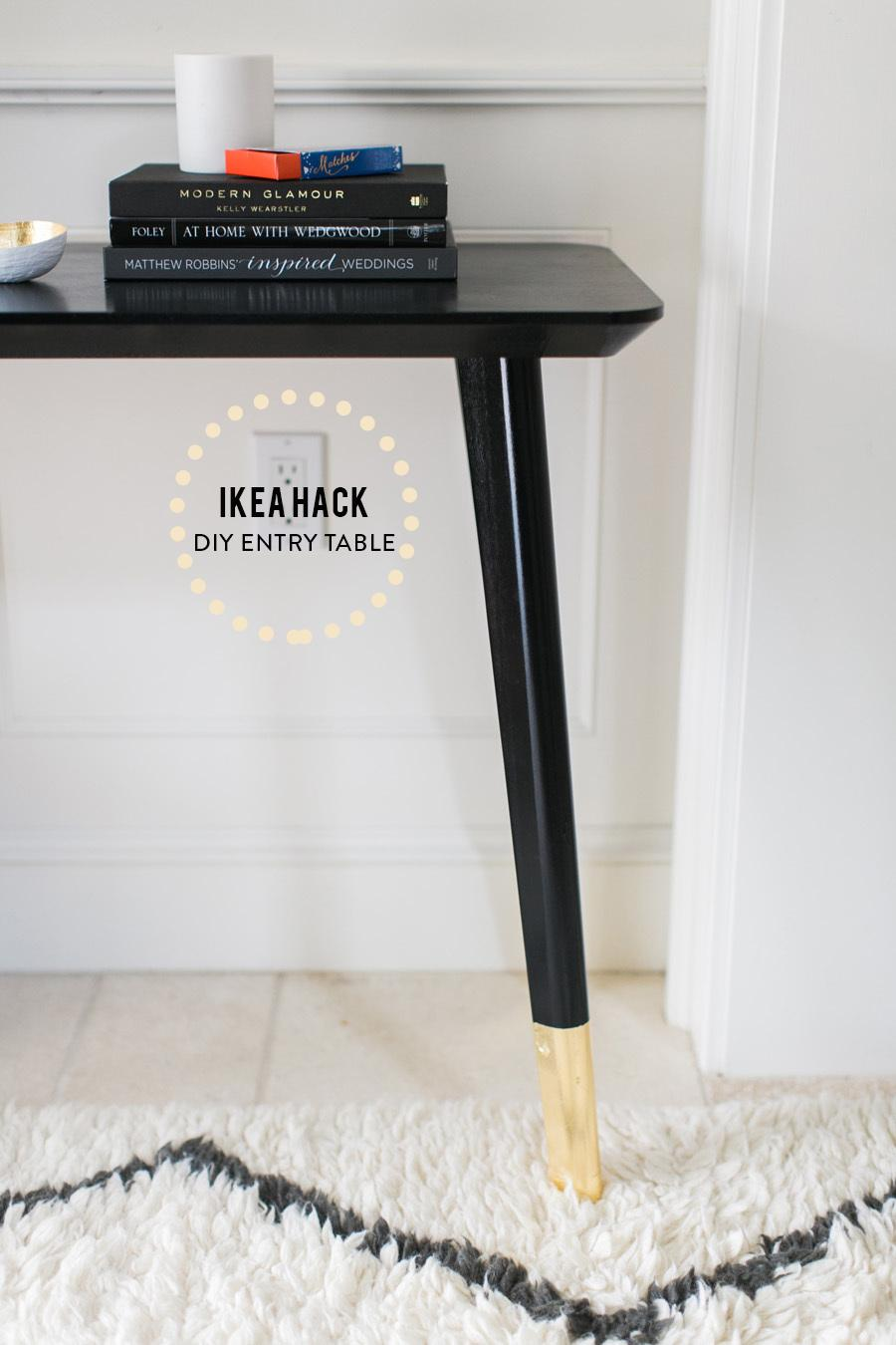 Ikea Hack Diy Entry Table
