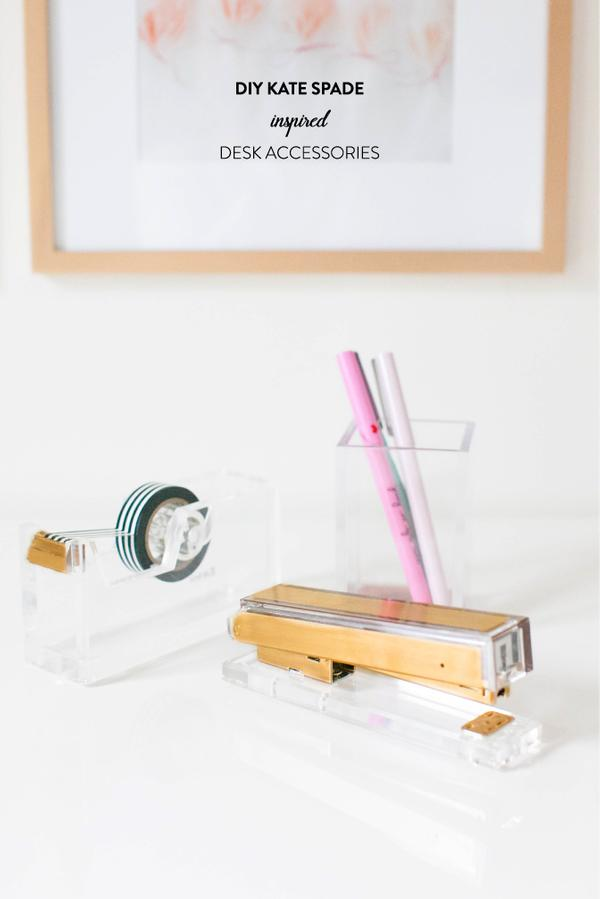 So When Our Very Own Abby Larson Whipped Up These Chic Pieces For Half The In Under 30 Minutes All Of My Desk Accessory Dreams Came True