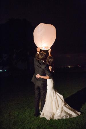 Sky Lanterns Wedding Inspiration - Style Me Pretty