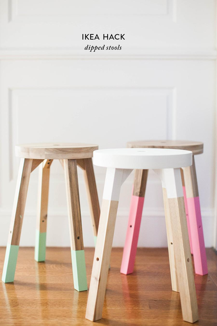 Tremendous On Trend Diy Dipped Stools For Half The Price Cjindustries Chair Design For Home Cjindustriesco