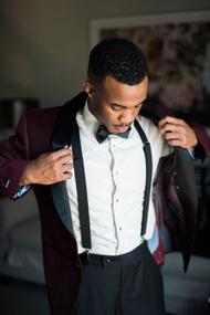 Salt/&Seas Cotton Floral Self Tie Bow Tie and Pocket Square Set for Men