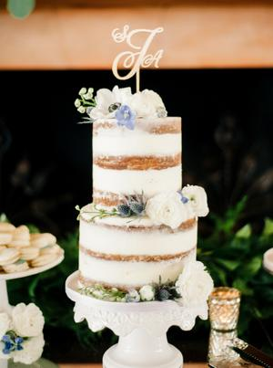 Naked Cake Wedding Inspiration Style Me Pretty