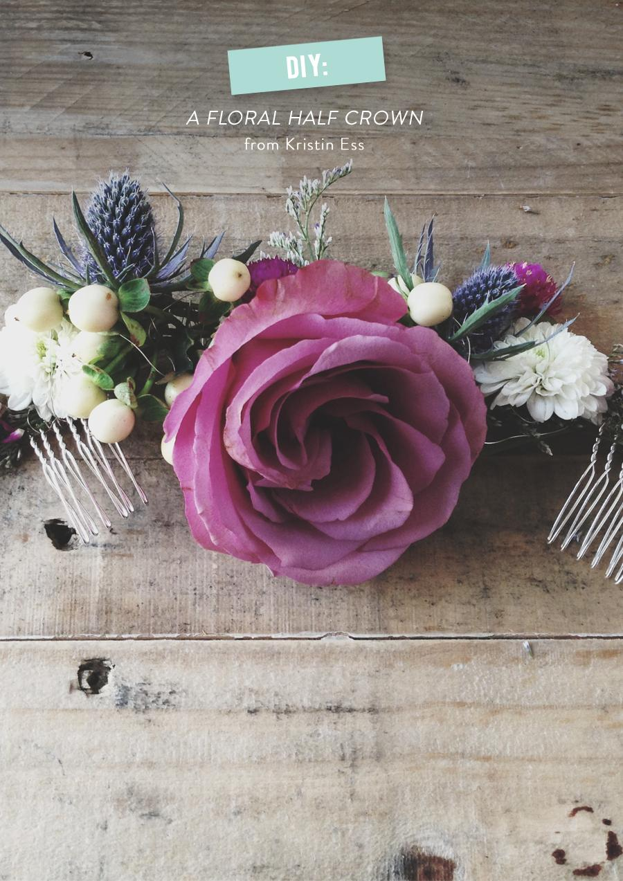 An Easy Floral Hair Crown