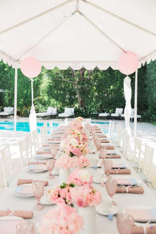 a blushing pantone themed bridal shower