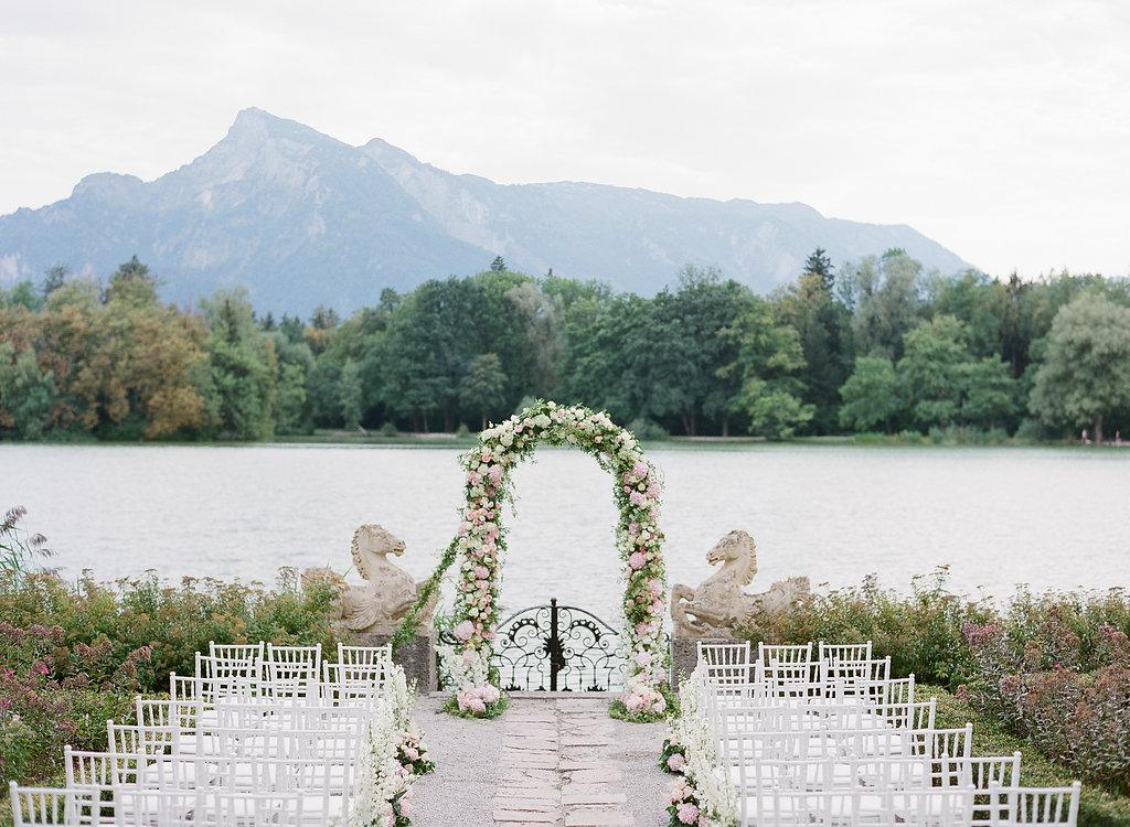 A Floral-Filled Wedding at Leopoldskron Palace - the Castle from The Sound of Music!
