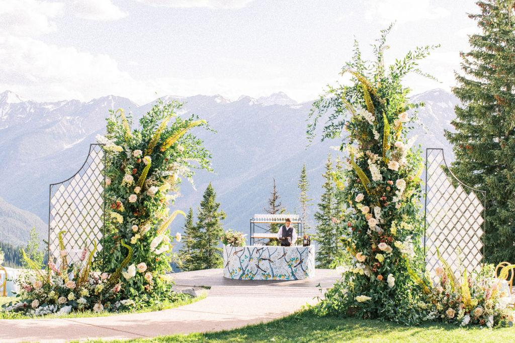 Vines, Fruit and Flowers Inspired This Stunning Mountaintop Wedding at The Little Nell