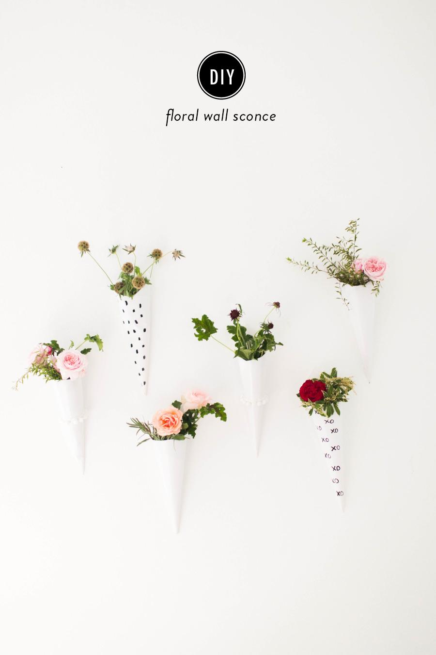 Diy Floral Wall Sconces