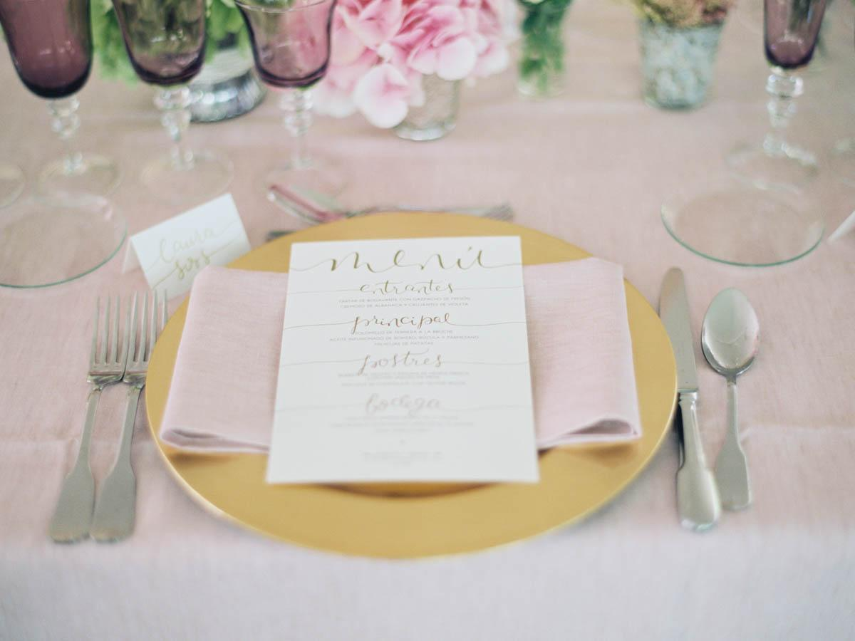 Soft Pink + Gold Barcelona Wedding
